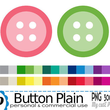 Button - Clipart - 30 PNG files - 300 dpi - Instant download - Transparent PNG - Graphic design, scrapbooking - CA28