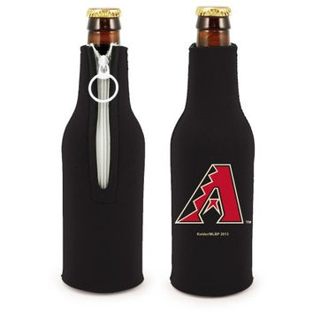 MLB Diamondbacks Neoprene Bottle Suits | Arizona Diamondbacks Beer Bottle Koozies - Set of 2