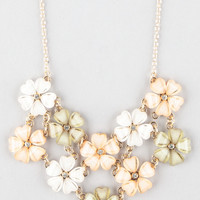 Full Tilt 2 Row Flower Statement Necklace Multi One Size For Women 23230595701