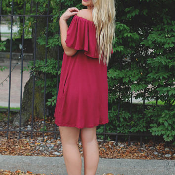New Views Dress - Burgundy