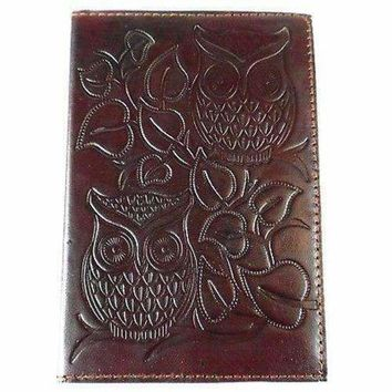 "Night Owl"" Embossed Leather Journal - Matr Boomie"