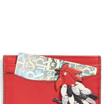 MARC JACOBS Rooster Leather Card Case | Nordstrom