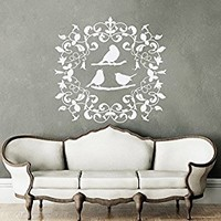 Rustic Nursery Wall Decal Bird Decal Butterfly Vinyl Decal Baby Wall Decal Rustic Wall Decal Kids Nursery Decal Interior Design MN1030 (22x23)