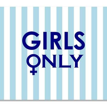 Girls Only with Female Symbol Print Wall Art