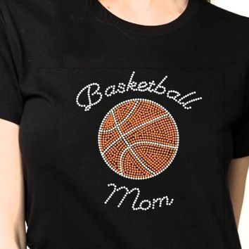 Bling T-Shirt  | Women Basketball Rhinestones - SHIRT | Shop