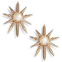 Kendra Scott 'Rogan' Pearl Stud Earrings | Nordstrom