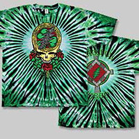Grateful Dead SYF Shamrock St Patricks Day Tie Dye Short Sleeve Shirt 2XL