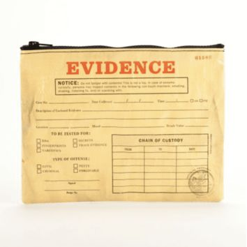 Evidence medium zipper pouch