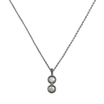 1.14ct Diamonds in 925 Sterling Silver Infinity Locket Diamond Shaker Necklace