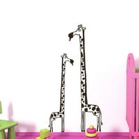 Wall Decals Giraffe Animals Jungle Safari African Childrens Decor Kids Vinyl Sticker Wall Decal Nursery Bedroom Murals Playroom Art SV6056