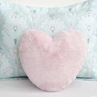 Fur Heart Decorative Pillow | Pottery Barn Kids