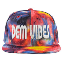 Cosmic Explosion Snapback Rave Hat Red