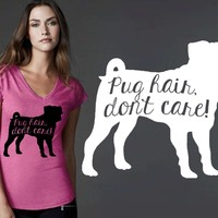 Pug Dog Hair T-shirt