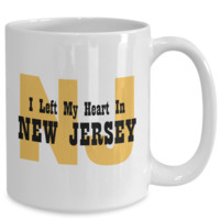 Heart In New Jersey - 15oz Mug