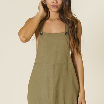 Rhythm - Pinafore Dress | Olive