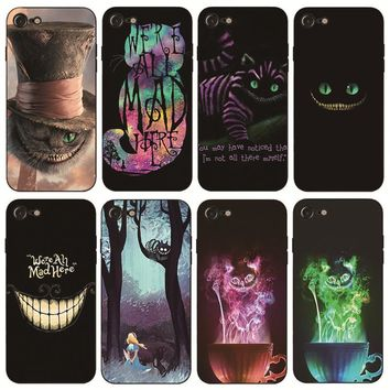 Alice in Wonderland Cheshire Cat Hard Phone Case for iPhone Apple 4 4s 5 5s SE 5c 6 6s 7 8 Plus X10
