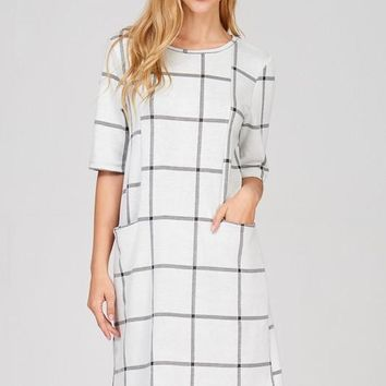 Work To Play Shift Dress - Ivory