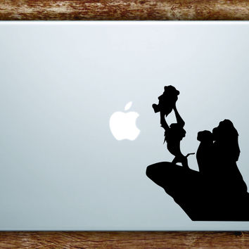 Lion King Rafiki Simba Silhouette Laptop Decal Sticker Vinyl Art Quote Macbook Apple Decor Cute Cartoon
