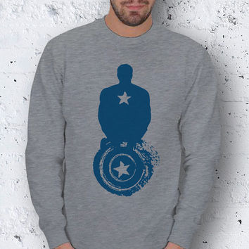 Superhero Captain America Avengers Men Basic Sweatshirt / Special Production (Limited Edition)