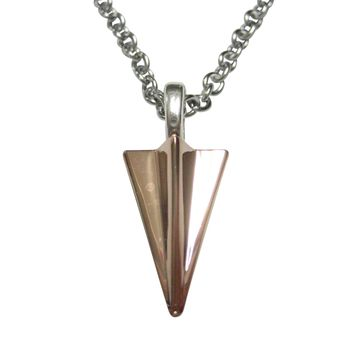 Rose Gold Toned Paper Airplane Pendant Necklace
