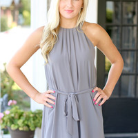 Pleats To Meet You Dress - Grey