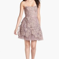 Adrianna Papell Embroidered Tulle Fit & Flare Dress | Nordstrom
