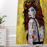 Amy Smith Em on Fire Shower Curtain And Mat