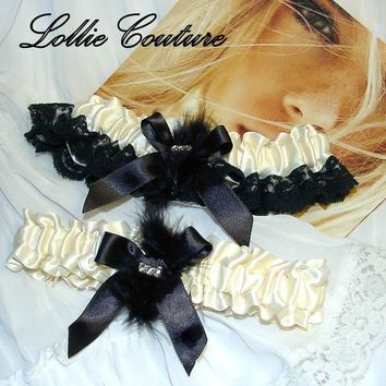 Blonde Lingerie  Wedding Garter Set  Bridal by lolliecouture
