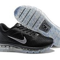 HCXX N349 Nike Air Max 2019 Full Palm Cushion Breathable Casual Running Shoes Black Sliver