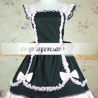 Lolita Costumes Cotton Black Lace Bow Cotton Sweet Lolita Dress [T110809] - $73.00