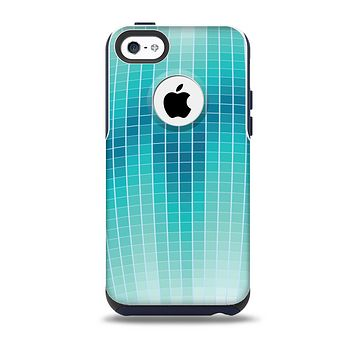 The Teal Disco Ball Skin for the iPhone 5c OtterBox Commuter Case