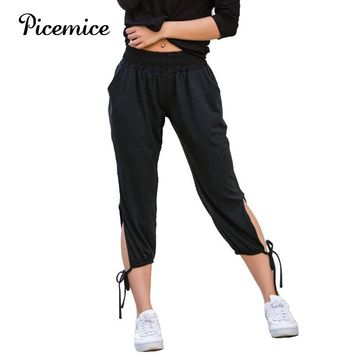 Picemice Harem Pants Women Elastic High Waist Sport Lantern Pants Trousers 2018 New Belly Dance Comfy Fitness Dancing Trouses