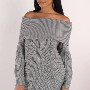 Nikki Off Shoulder Sweater Dress