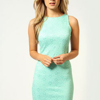 Trixie Sleeveless Lace Shift Dress
