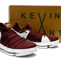 Nike Zoom KD 10 Wine Red/White Basketball