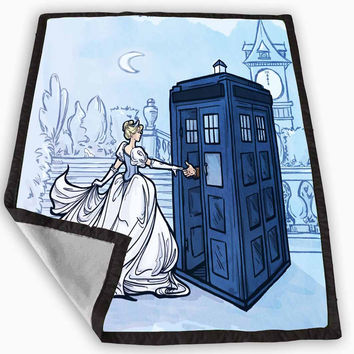 Cinderella Tardis Blanket for Kids Blanket, Fleece Blanket Cute and Awesome Blanket for your bedding, Blanket fleece **