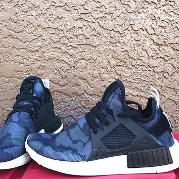 """Adidas"" NMD XR1 Duck Camo Women Men Running Sport Casual Shoes Sneakers Camouflage Black-purple"