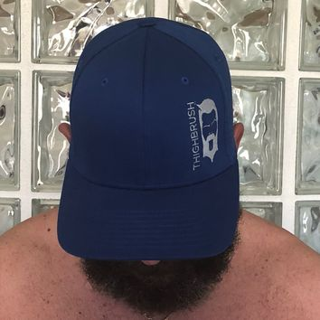 THIGHBRUSH - FlexFit Hat - Royal Blue with Grey - #THIGHBRUSHNATION