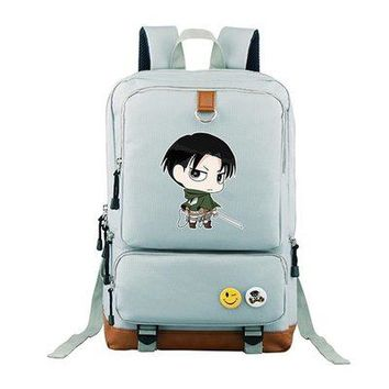Anime Backpack School kawaii cute Attack on Titan COSPLAY Casual fashion male and female students schoolbag travel backpack AT_60_4
