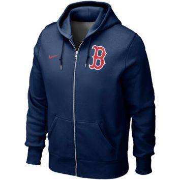 Boston Red Sox Nike Classic Full Zip Hoodie 1.2 – Navy Blue