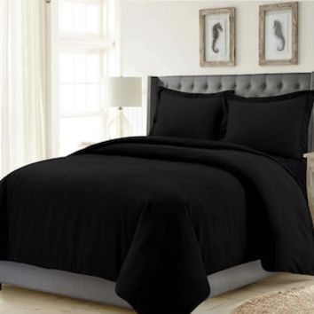 Madrid Solid Oversized Duvet Cover Set | null