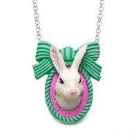 Taxidermy Bunny Rabbit Pendant