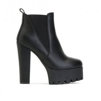 Ultra Platform Ankle Boots Black