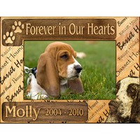 "Personalized ""Forever In Our Hearts"" Dog Breed Picture Frame"