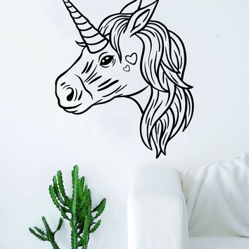 Unicorn V5 Wall Decal Sticker Vinyl Room Decor Decoration Art Bedroom Cute Magical Horse Girl Teen