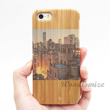 Personalised photo design your own case, Real wood case, iPhone 5C case, iPhone 5S 5 case, Wood cover, Bamboo, FREE screen protector