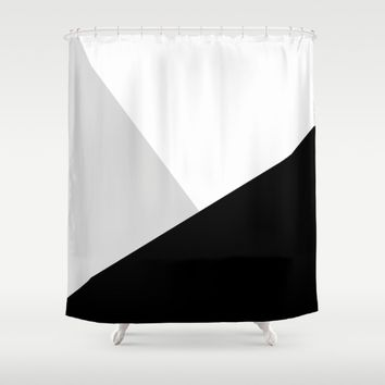 Monochromatic Shower Curtain by ARTbyJWP
