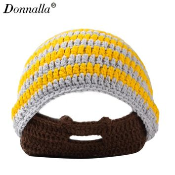 Donnalla Mask Knitted Winter Hats for Men Women Outdoor Skiing Skullies & Beanies Acrylic Keep Ear Warm Caps with Balls Hat