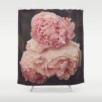 Pink Peony Trio Shower Curtain by Dena Brender Photography