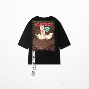DCCKIJ2 Playboi Print Retro Club T-shirt